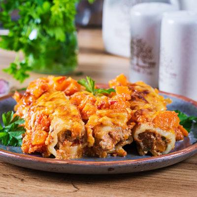 Kaneloni (cannelloni) ar liellopu gaļu